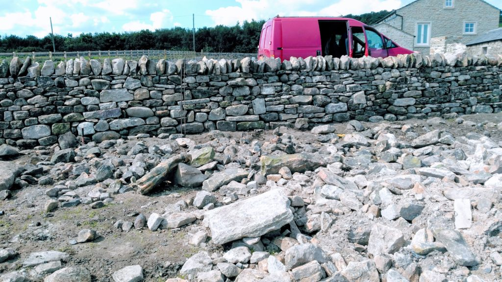 dry stone waller in ribble valley