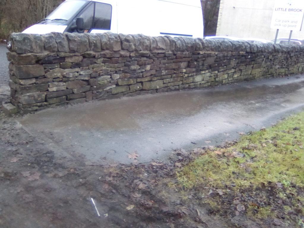 great harwood near accrington wall repair