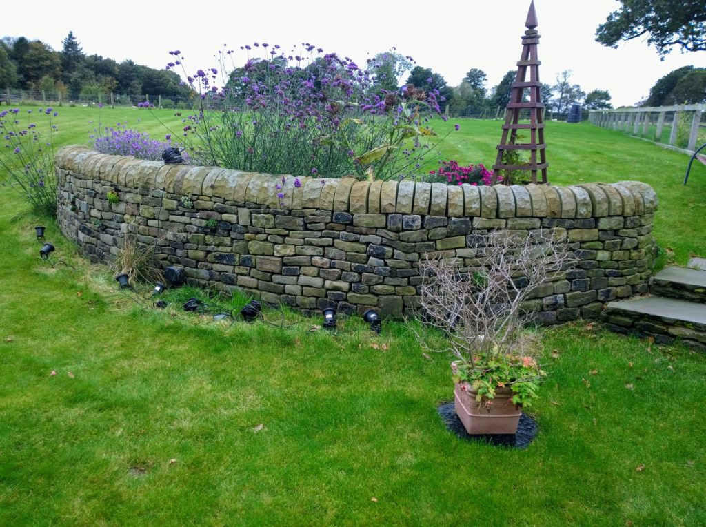 a dry stone wall near garstang in lancashire