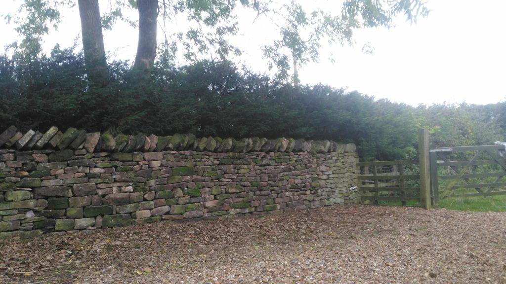 the finished wall near preston autumn 2018